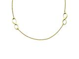 Stainless Steel Double Infinity Yellow Ip-plated Polished Necklace style: SRN1291