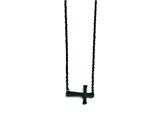 Stainless Steel Black Ip-plated Sideways Cross Necklace style: SRN1297