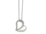 Chisel Stainless Steel Polished Heart With Crystals Necklace style: SRN1304175