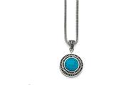 Chisel Stainless Steel Imitation Turquoise/antiqued With 2in Ext. Necklace style: SRN130718