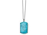 Chisel Stainless Steel Imitation Turquoise Necklace style: SRN131418