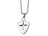 Chisel Stainless Steel Shield Necklace style: SRN131