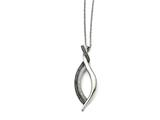 Chisel Stainless Steel Black/clear Cz Antiqued With 2in Extension Necklace style: SRN132618