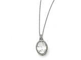 Chisel Stainless Steel Oval Crystal Necklace style: SRN132818