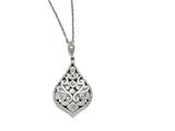 Chisel Stainless Steel Cz With 2in Extension Necklace style: SRN132918