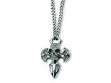 Chisel Stainless Steel Cross with Skull Necklace style: SRN134