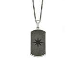 Chisel Stainless Steel Black Ip-plated Laser Cut Dog Tag Necklace style: SRN135022