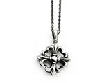 Chisel Stainless Steel Polished And Antiqued Necklace style: SRN138218