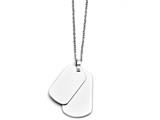 Chisel Stainless Steel Polished Double Dog Tag Necklace style: SRN139420
