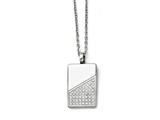 Chisel Stainless Steel Dog Tag With Cz  Necklace style: SRN140020