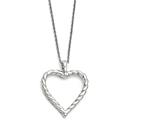 Chisel Stainless Steel Twisted Heart Pendant Necklace style: SRN141318
