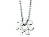 Chisel Stainless Steel Sun Burst Necklace - 22 inches