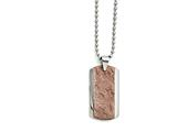 Chisel Stainless Steel Polished And Textured Brown Ip-plated Necklace style: SRN144324