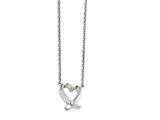 Chisel Stainless Steel Polished Heart With Cz Necklace style: SRN146019