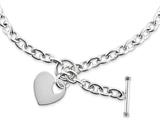 Chisel Stainless Steel Polished Heart Toggle Necklace style: SRN146418
