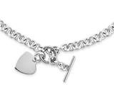 Chisel Stainless Steel Polished Heart Toggle Necklace style: SRN146518
