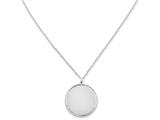Chisel Stainless Steel Polished Engraveable Round Disc W/2in. Ext. Necklace style: SRN146718