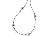 Chisel Stainless Steel Polished/textured Black Onyz W/2in Ext. Necklace style: SRN151134