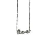 Chisel Stainless Steel Polished Crystal Love Necklace style: SRN151817