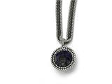 Chisel Stainless Steel Polished Blue Sandstone W/2in Ext. Reversible Necklace style: SRN152318