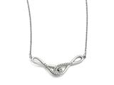 Chisel Stainless Steel Polished Infinity Symbols With Czs Necklace style: SRN154019