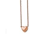 Chisel Stainless Steel Polished Pink Ip-plated Heart Necklace style: SRN1548175