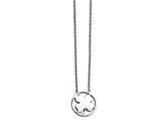 Chisel Stainless Steel Polished Four Leaf Clover Necklace style: SRN15491725
