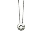 Chisel Stainless Steel Polished Flower Necklace style: SRN1552185