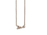 Chisel Stainless Steel Polished Pink Ip-plated Cz Love Necklace style: SRN155418