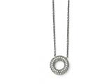Chisel Stainless Steel Polished Circle With Czs Necklace style: SRN15551825