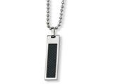 Chisel Stainless Steel Black Carbon Fiber Necklace style: SRN15622