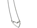 Chisel Stainless Steel Polished Heart Necklace style: SRN1564175