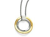 Chisel Stainless Steel Polished Yellow Ip-plated Wavy Circles Necklace style: SRN157318