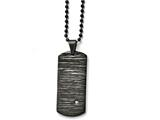 Chisel Stainless Steel Brushed/polished Black Ip-plated W/cz Necklace style: SRN159520