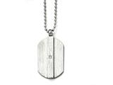 Chisel Stainless Steel Brushed And Polished W/cz Necklace style: SRN159720