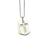 Chisel Stainless Steel Polished Yellow Ip-plated Serenity Prayer Necklace style: SRN164422