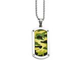 Chisel Stainless Steel Polished Camoflage Dog Tag Necklace style: SRN165224