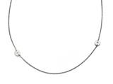 Chisel Stainless Steel Polished Circles With Cz Necklace style: SRN16743375