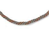 Chisel Stainless Steel Polished Rose Ip-plated Twisted Mesh Necklace style: SRN1678175