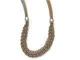 Chisel Stainless Steel Yellow/rose Ip-plated Braided Mesh Necklace style: SRN168121