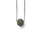 Chisel Stainless Steel Polished Black Enamel W/crystals W/2in Ext. Necklace style: SRN168616