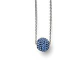 Chisel Stainless Steel Polished Blue Enamel W/crystals W/2in Ext. Necklace style: SRN168716