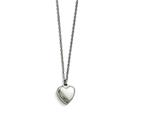 Chisel Stainless Steel Polished Heart W/1.50in. Ext. Necklace style: SRN16911625