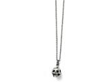 Chisel Stainless Steel Polished And Antiqued Skull Necklace style: SRN169719