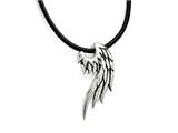 Chisel Stainless Steel Polished And Antiqued Wing Necklace style: SRN171120