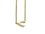 Chisel Stainless Steel Polished Yellow Ip-plated Sideways Wishbone Necklace style: SRN172716