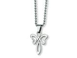 Chisel Stainless Steel Cross Necklace - 22 inches