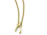 Chisel Stainless Steel Polished Yellow Ip-plated Wishbone Necklace style: SRN17311575