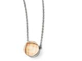Chisel Stainless Steel Polished Champagne Glass W/1in Ext Necklace style: SRN174218