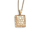 Chisel Stainless Steel Polished And Textured Rose Ip-plated Necklace style: SRN175018